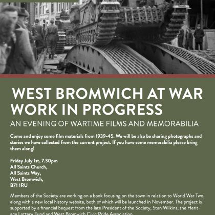 West Bromwich at War event, July 2016